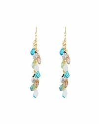 Emily And Ashley Simulated Crystal Briolette Dangle Earrings Blue