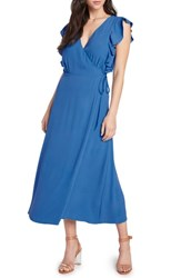 Willow And Clay Solid Wrap Midi Dress