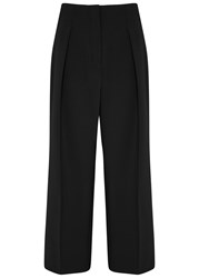Elizabeth And James Billie Cropped Wide Leg Trousers Black
