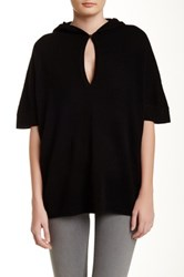In Cashmere Hoodie Cashmere Poncho Black