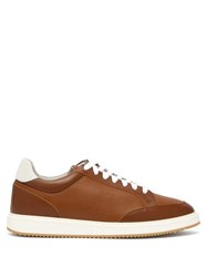 Brunello Cucinelli Grained Leather Trainers Brown