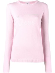 Bella Freud Je T'aime Jane Jumper Pink Purple