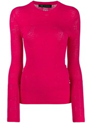 Versace Slim Fit Knitted Sweater Pink