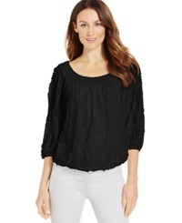 Studio M Soutache Blouson Peasant Top