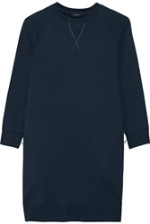 Nlst Cotton Blend Fleece Mini Dress Navy