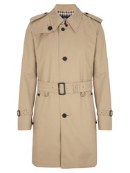 Aquascutum London Corby Single Breasted Raincoat Beige