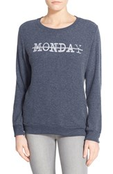 Women's Signorelli 'Yummy Fleece' Graphic Sweatshirt Monday Navy