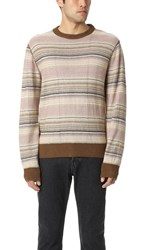 Our Legacy Base Linen Round Neck Sweater Multi
