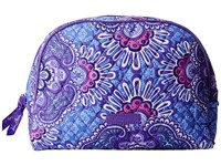 Vera Bradley Large Zip Cosmetic Lilac Tapestry Cosmetic Case Purple