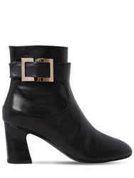 Roger Vivier 70Mm Chucky Trompette Leather Boots Black