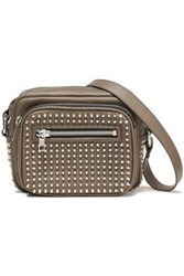 Mcq By Alexander Mcqueen Woman Studded Leather Shoulder Bag Taupe