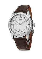 Oris Artiler Pointer Stainless Steel Watch Brown Silver
