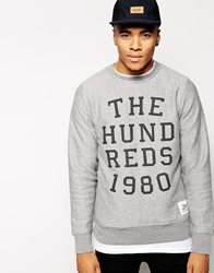 The Hundreds Report Crew Sweatshirt Grey