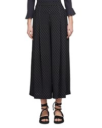 Whistles Amena Pleated Wide Leg Pants Black