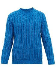 Altea Chunky Ribbed Knit Sweater Blue
