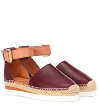 See By Chloe Glyn Leather Espadrilles Brown