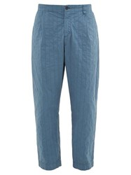 Craig Green Straight Leg Topstitched Shell Trousers Navy