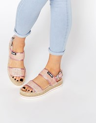 Love Moschino Glitter Love Moschino Espadrille Sandals Pink
