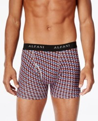 Alfani Men's 4 Pk. Printed Boxer Briefs Only At Macy's Red Multi