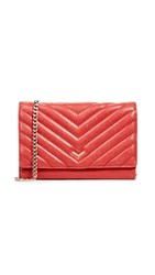 Botkier Soho Quilted Wallet On A Chain Red