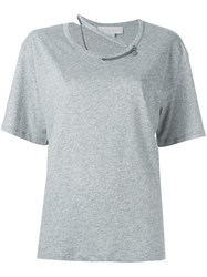 Stella Mccartney 'Falabella' Chain T Shirt Grey