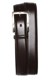 Men's Johnston And Murphy Calfskin Belt Burgundy