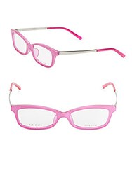 Gucci 53Mm Rectangle Optical Glasses Pink
