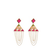 Isharya Pyramid Quartz Drape Earrings
