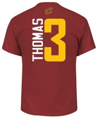 Majestic Men's Isaiah Thomas Cleveland Cavaliers Vertical Name And Number T Shirt Maroon