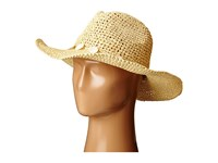 San Diego Hat Company Pbc2445 Cowboy Hat With Wired Brim And Shell Trim Natural Caps Beige