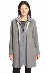 Women's Lafayette 148 New York 'Divina' Wool And Cashmere Coat With Detachable Vest