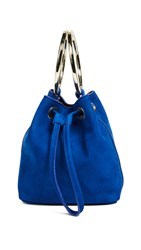 Maison Boinet Small Two Ring Bucket Bag Electric Blue