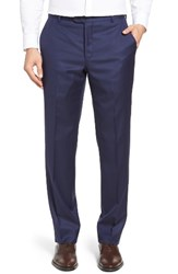 Hickey Freeman Men's Beacon Flat Front Solid Wool Trousers