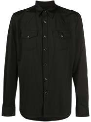 Hydrogen Two Pocket Buttoned Shirt Black