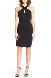 Socialite Women's Cross Front Body Con Dress