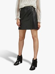 Ted Baker Lyley Faux Leather Skirt Black
