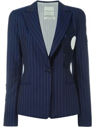 Each X Other Pinstripe Blazer Blue