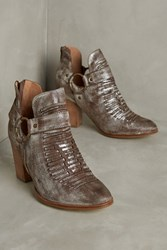 Anthropologie Seychelles Impossible Booties Silver