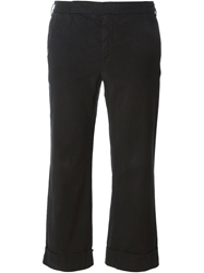 Douuod 'Singapore' Cropped Trousers Black
