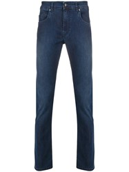 Fay High Rise Skinny Jeans Blue