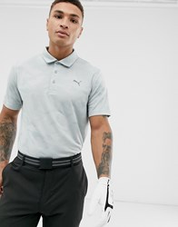 Puma Golf Camo Polo In Grey White