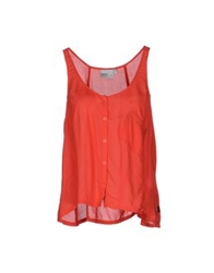 Wesc Sleeveless Shirts Red