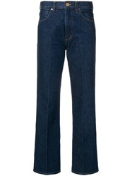 Gold Sign Goldsign Straight Fit Trousers Blue