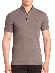 The Kooples Tipped Solid Polo Grey