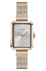 Boss Whisper Strap Watch 20Mm X 26Mm Gold White Mop Gold