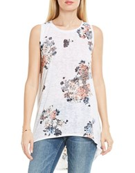 Vince Camuto Burnout Textured Tank Top Ultra White