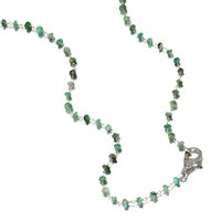 Ela Rae The Fallyn Necklace Emerald Sterling Silver