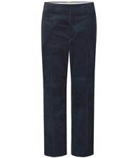 Marni Cropped Corduroy Trousers Blue