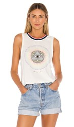 Spiritual Gangster Connected Gigi Muscle Tank In Ivory. Stone