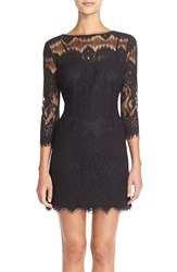 Bb Dakota 'Natalia' Lace Sheath Dress Black